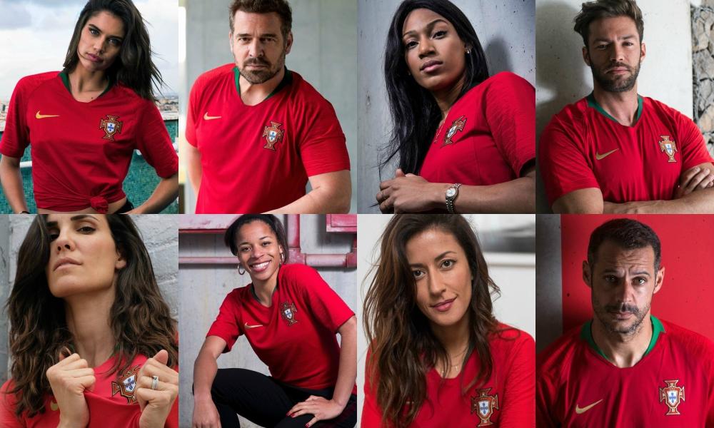 Celebridades portuguesas vestem a nova camisola para o Mundial 2018