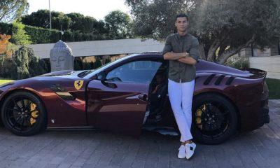 Cristiano Ronaldo na sua casa em Madrid