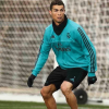 Cristiano Ronaldo num treino do Real Madrid