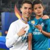 Cristianinho com o pai, Cristiano Ronaldo