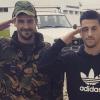 Pizzi com um dos militares da Base Nr1 de Sintra