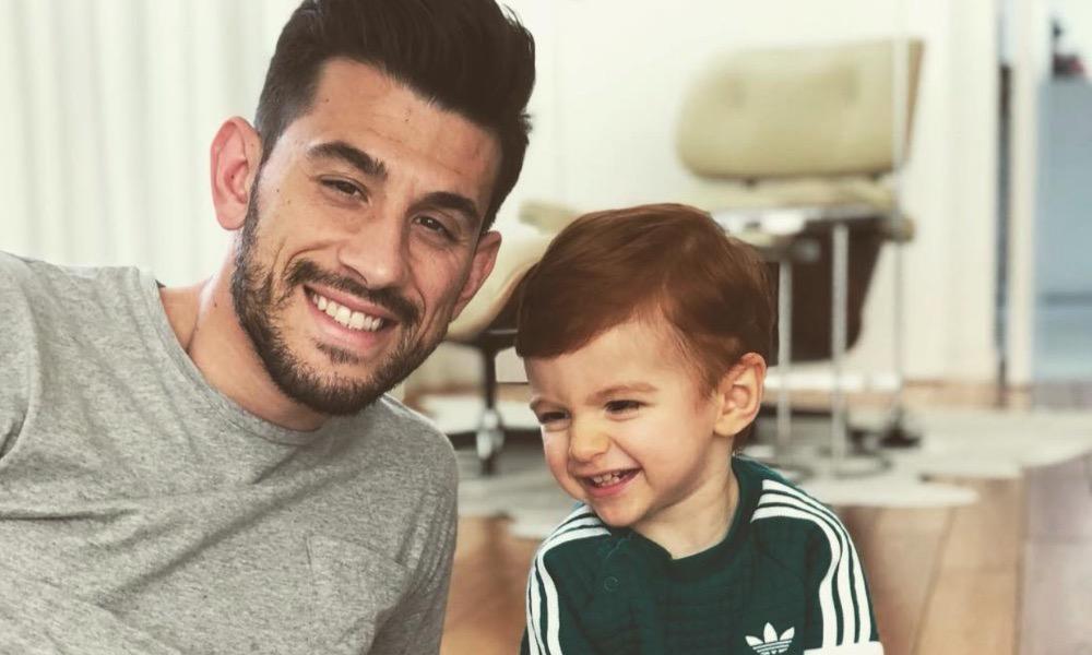 Pizzi com o filho Afonso