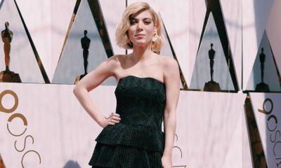 Raquel Strada na passadeira vermelha dos Óscares 2018