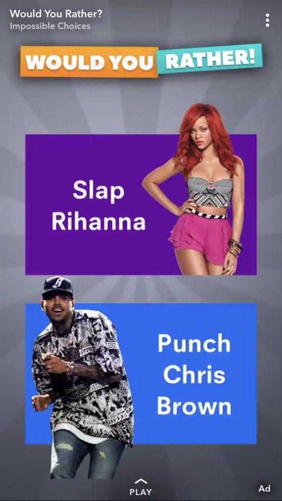 Rihanna revoltada com anúncio no Snapchat que brinca com violência doméstica