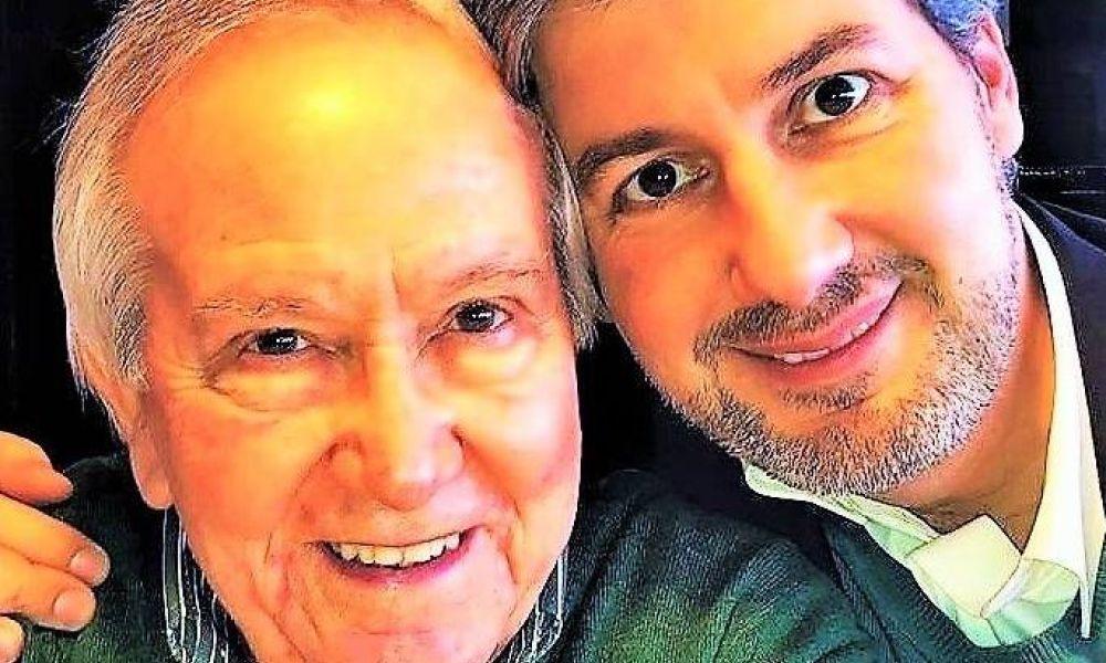 Bruno de Carvalho com o pai