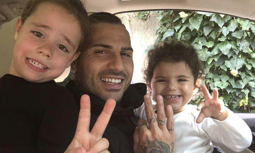 Ricardo Quaresma com os filhos Kauana e Ricardo