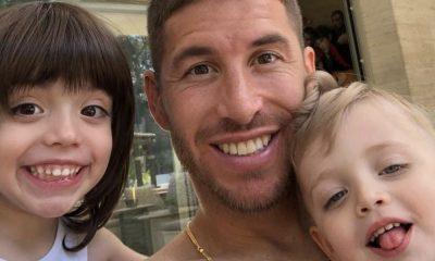 Sergio Ramos com os filhos Marco e Sergio