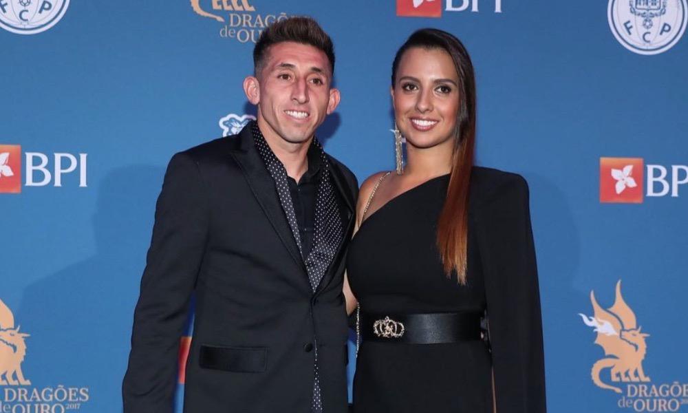 Herrera e Shantal na gala 'Dragões de Ouro'