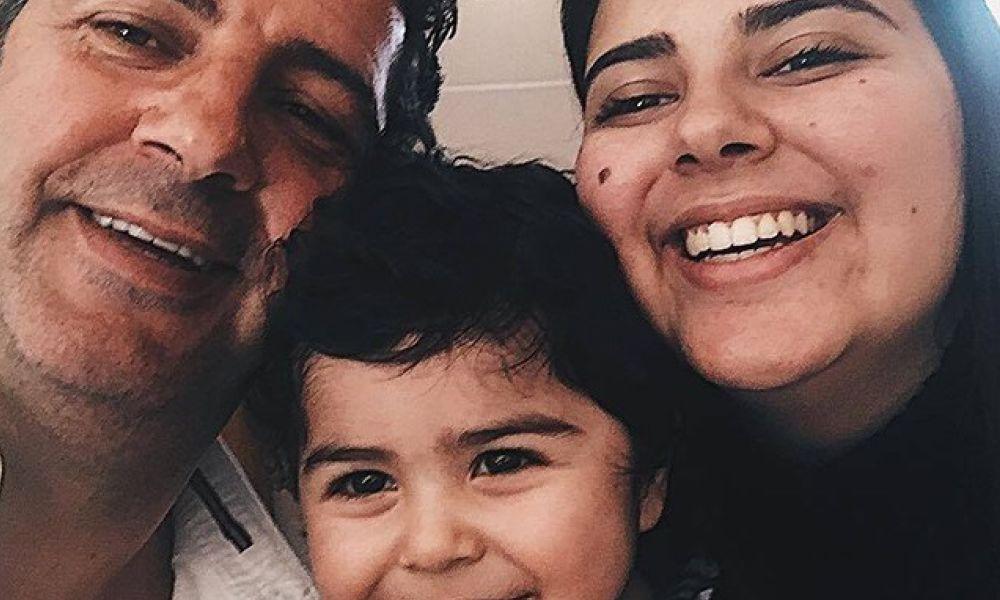 Rui Vitória com os filhos Mariana e Santiago