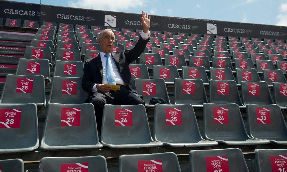 Marcelo Rebelo de Sousa não quis perder a oportunidade de ver um jogo de ténis ao vivo