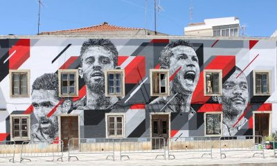 A cidade de Portimão fez uma homenagem à seleção nacional