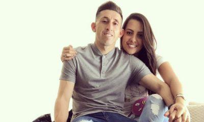 Herrera com a namorada Shantal Mayo