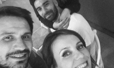 Tânia Ribas de Oliveira com o marido e Rui Patrício