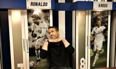 Ryan Reynolds ao lado de CR7