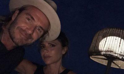 David Beckham e a mulher Victoria