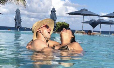 Herrera com a mulher no México