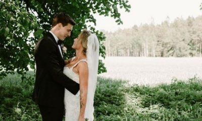 Victor Lindelöf e Maja Nilsson trocaram alianças na Suécia