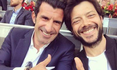 Luís Figo e Álvaro Morte encontraram-se em Madrid