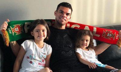 Pepe com as duas filhas