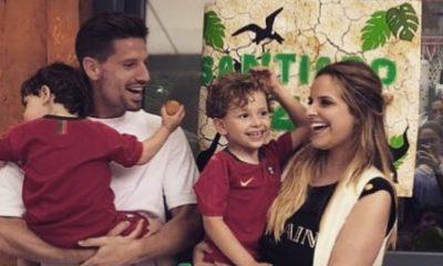 Adrien Silva festejou o quarto aniversário do filho