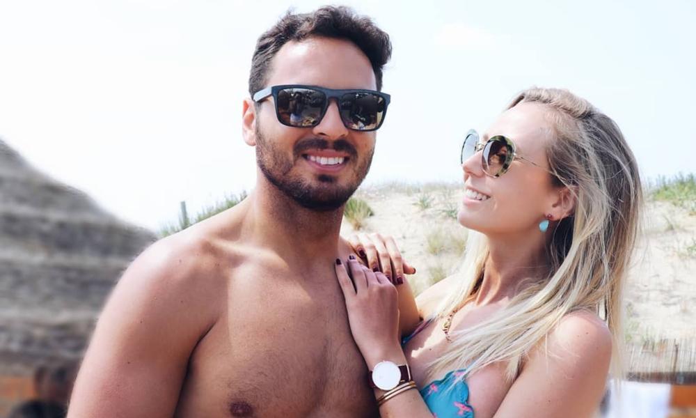 Sofia Arruda e o marido