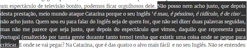 Texto de Cláudio Ramos