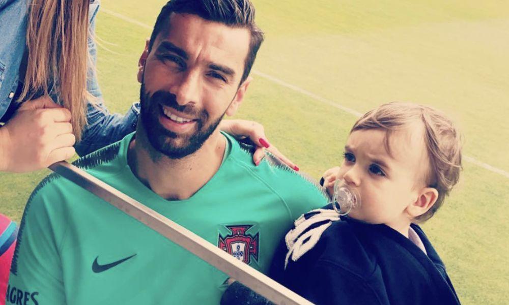 Rui Patrício com o filho Pedro