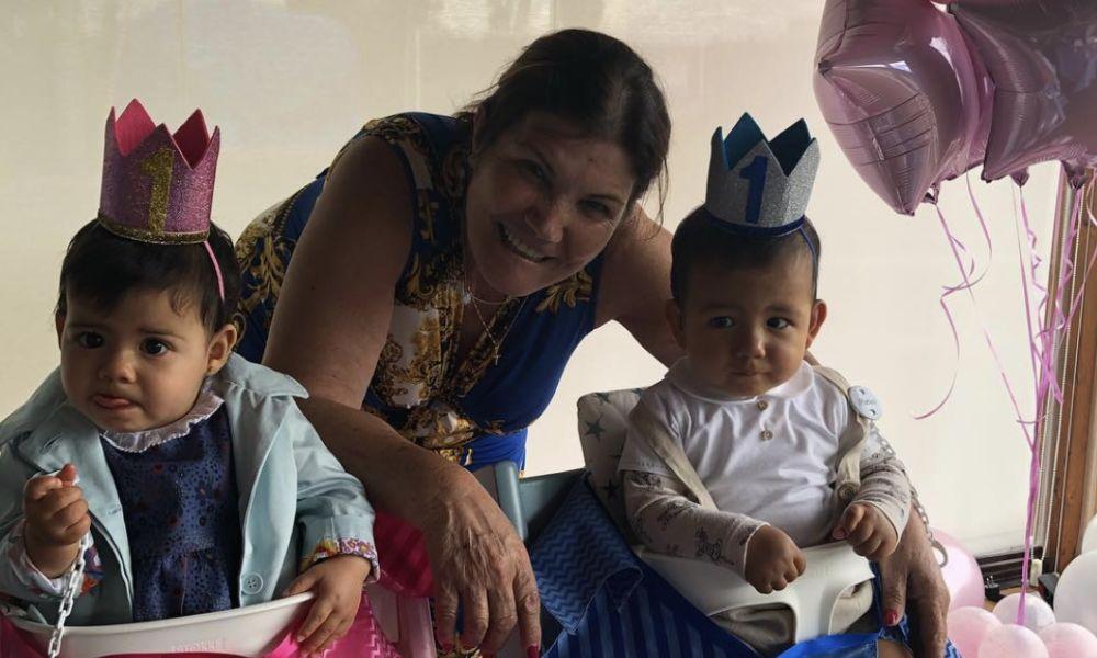 Dolores Aveiro organizou a festa de aniversário de Eva e Mateo