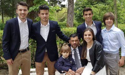 Sérgio Conceição com a mulher e os filhos