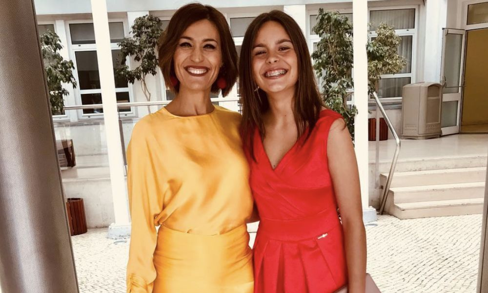 Fátima Lopes com a filha no baile de finalistas