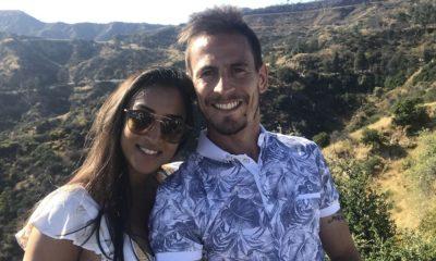 oão Pereira com a esposa Natacha