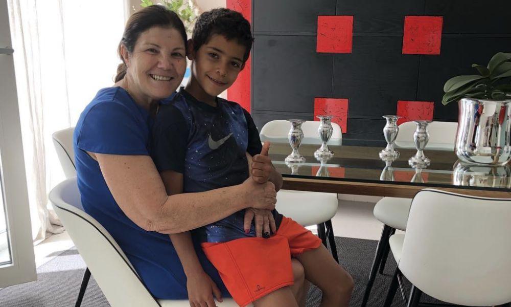Dolores Aveiro organizou a festa de aniversário de Cristianinho