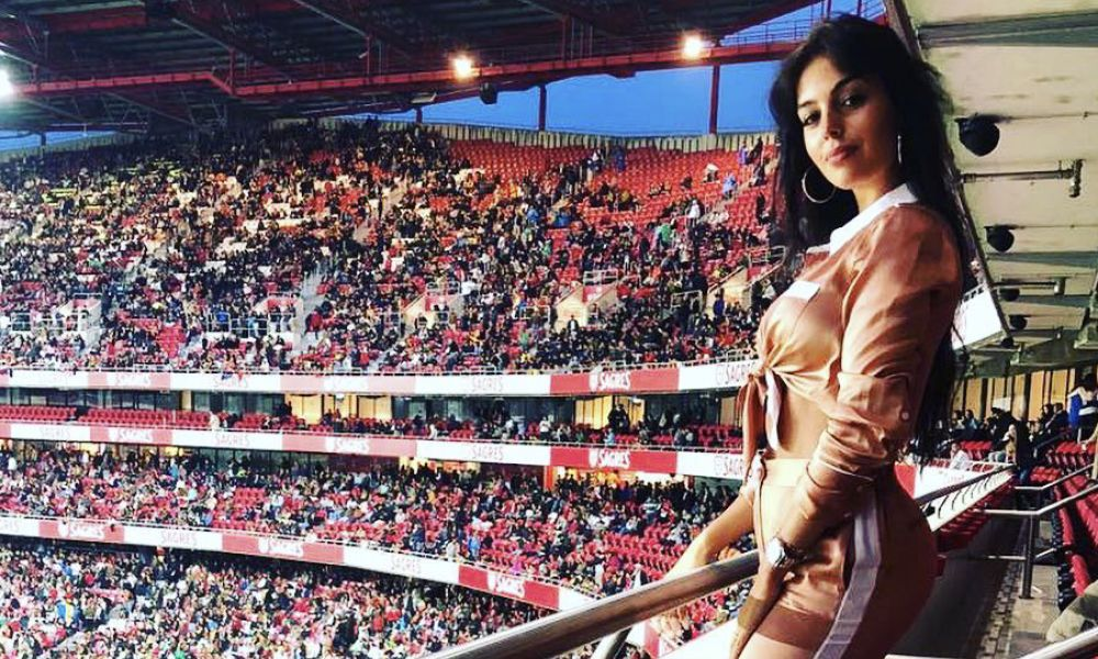 Georgina Rodríguez a apoiar a seleção nacional