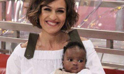 Fátima Lopes com o afilhado Christian