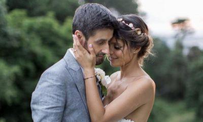 Andreia Rodrigues e Daniel Oliveira no dia do casamento