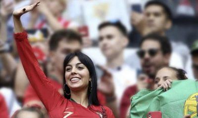 Georgina Rodríguez a apoiar Portugal