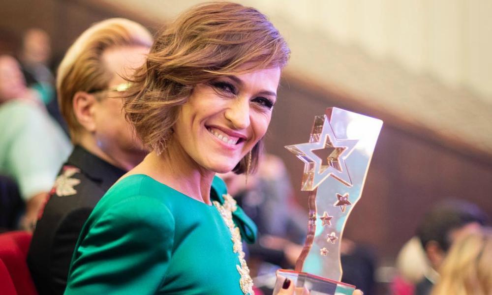 """Fátima Lopes foi premiada com o Troféu de """"Melhor Apresentadora de Entretenimento"""""""