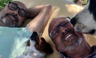 Manuel Luís Goucha com o companheiro e os seus animais