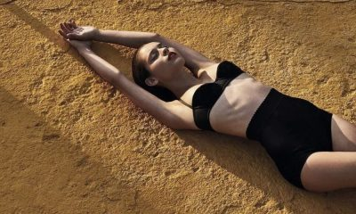 Daniela Melchior na produção fotográfica para a GQ Portugal