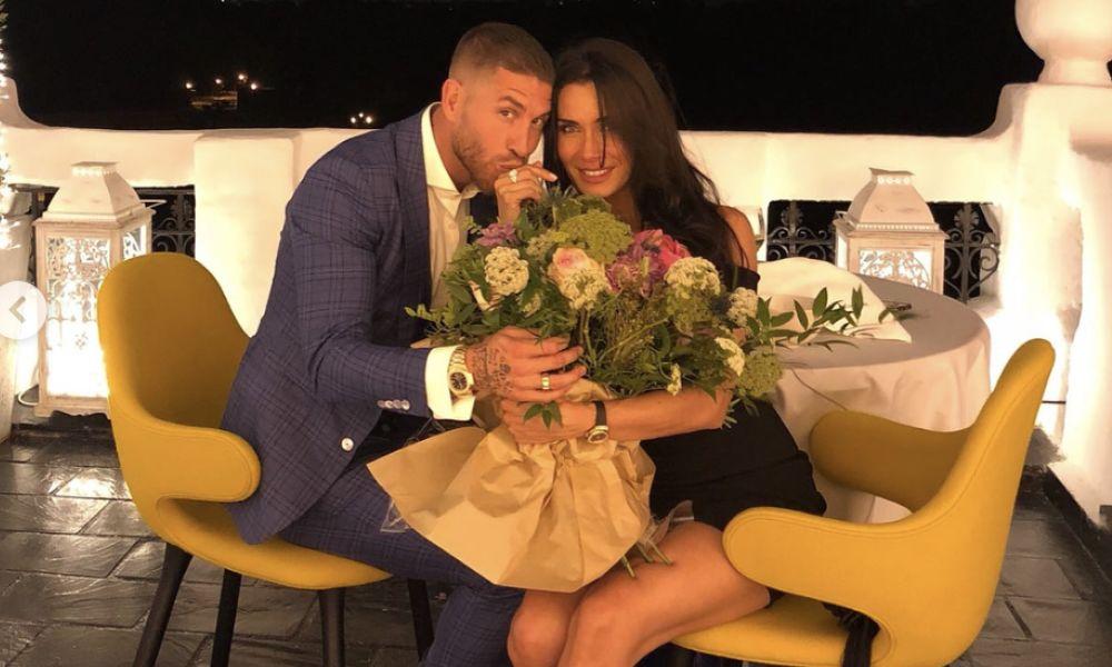 Sergio Ramos com Pilar Rubio após o pedido de casamento