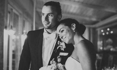 Marco Costa e Vanessa Martins no dia do enlace