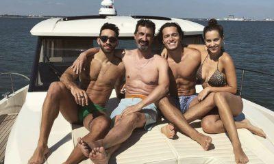 Mariana Monteiro e João Mota divertem-se com os amigos