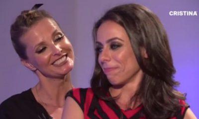 Filomena Cautela beija Cristina Ferreira durante a entrevista para a Revista CRISTINA