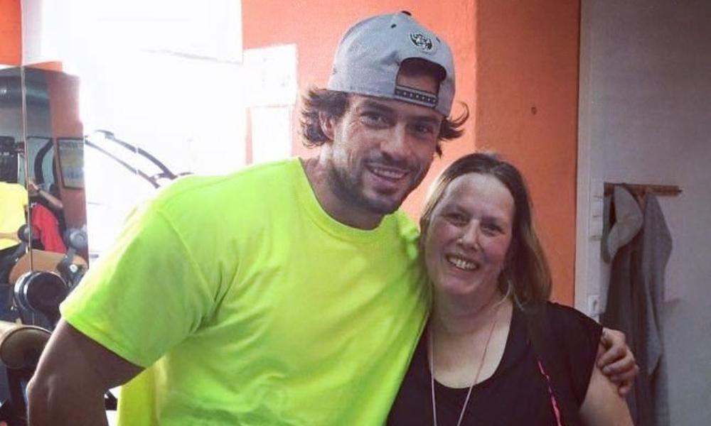 Marco Costa com a sua mãe Esperança Oliveira