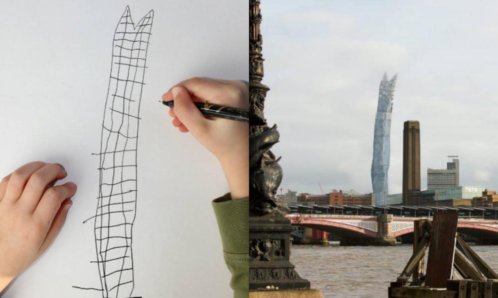 Desenho de um arranha-céus em Londres transformado em realidade